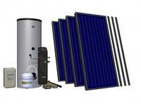Комплект на 4 коллектора + отопление HEWALEX 4TLP AC INTEGRA400 (4-6 чел. 400 л), фото 1