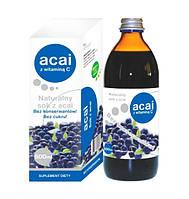 Сок Асаи без сахара - сильный антиоксидант, продлевает молодость