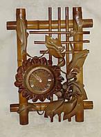 Часы настенные кожаные большие