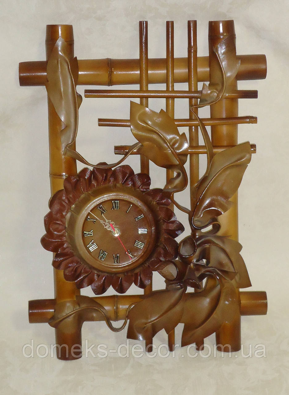 Часы настенные кожаные большие, фото 1