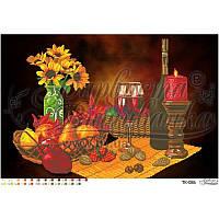 ТК-086 Романтический натюрморт 64x43. Барвиста вишиванка. Схема на ткани для вышивания бисером