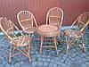 Мебели из лозы балконная