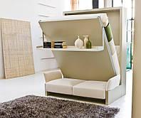 Шкаф - кровать трансформер односпальная отдельно и в комплекте со стенкой.