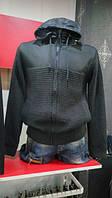 Свитер-куртка мужской молодежный теплый с капюшоном на замке