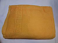 Полотенце махровое Размер 100х180см цвет оранжевый, Туркменистан