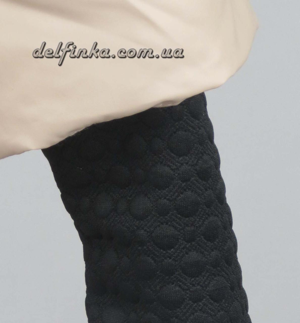 Куртка для девочек  трикотажный рукав 7-10 лет цвет синий, фото 4