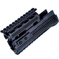 Цевье LHB LHV47 для АК пластик с планкой черный цв.
