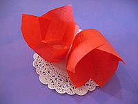 Бумажные формы (Тарталетки) для кексов, капкейков Красные тюльпан