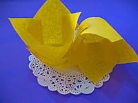 Тарталетки бумажные для кексов, капкейков Желтые тюльпан