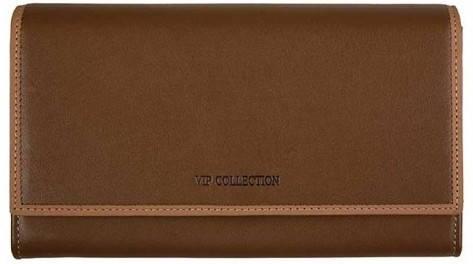 Изумительный женский кошелек Vip Collection 87C BL кофейный