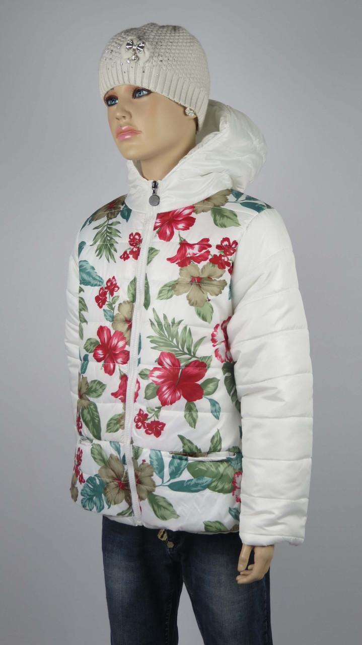 Куртка для девочек  7-10 лет цвет белый, фото 1