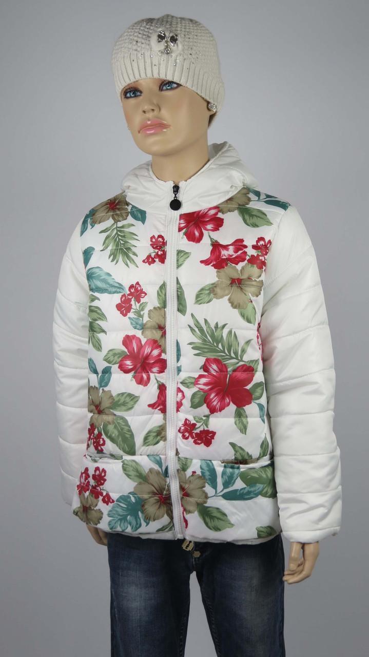 Куртка для девочек  7-10 лет цвет белый, фото 2