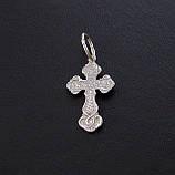 Серебряный крест из серебра 925 пробы №4с, фото 2