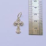 Серебряный крест из серебра 925 пробы №4с, фото 3
