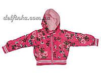 Ветровка на флисе, размеры от 80 до 98 см,  1-3 лет, цвет розовая, 925