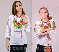 """Комплект з двох вишиванок """"Дзвінке літо"""" (для матусі та доньки), фото 1"""
