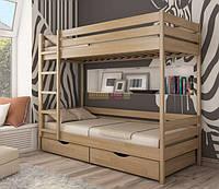 Кровать 2-х ярусная из массива бука