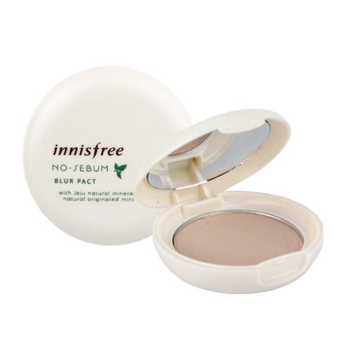 Innisfree No Sebum Blur Pact Компактная пудра для жирной кожи