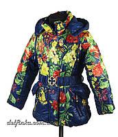 Куртка для девочек  4-8 лет цвет темно синий , фото 1