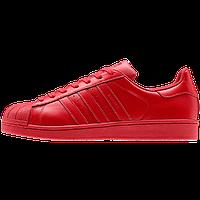 Кроссовки женские Adidas Superstar Supercolor (адидас) красные
