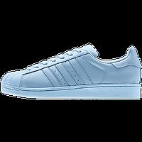 Кроссовки женские Adidas Superstar Supercolor (в стиле адидас) голубые