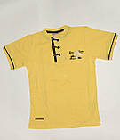 Футболка на мальчика на 9/10 лет Турция арт 982214 желтая., фото 2