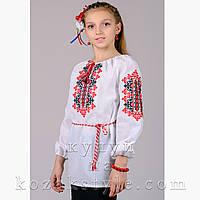 Вишиванка для дівчинки біла Україночка