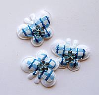 Аппликация пришивная. Голубая бабочка