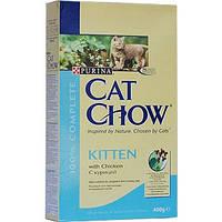 Сухой корм для котят Cat Chow (Кэт Чау) Kitten с курицей 400 гр