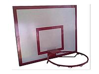 Баскетбольный щит металлический - (0,8 м. х1,0 м) с кольцом, фото 1