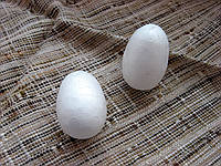 Яйцо из пенопласта  25х35 мм