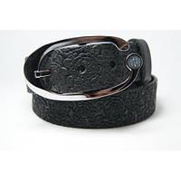 Ремень кожаный женский (черный) Andi 1049_002
