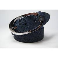 Ремень кожаный женский (синий) Andi 1049_012