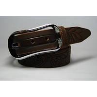Ремень кожаный женский (коричневый) Andi 1049_031