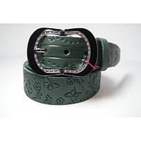 Ремень женский кожаный (оливковый) Andi 1171_015
