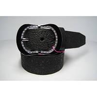 Ремень женский кожаный (черный)