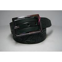 Ремень женский кожаный (зеленый) Andi 1171_067