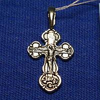 Крестик нательный серебро с распятием 0127