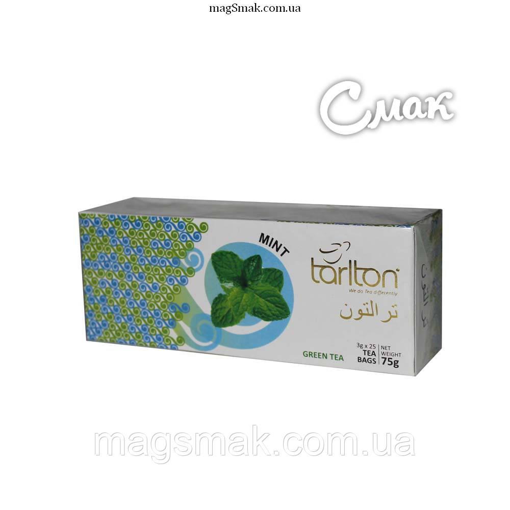 Чай Tarlton (Тарлтон) зеленый с мятой, 3 г*25 пак.