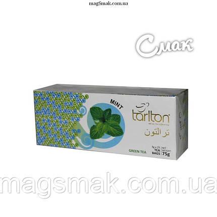 Чай Tarlton (Тарлтон) зеленый с мятой, 3 г*25 пак., фото 2