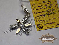 Серебряная подвеска с золотом и цирконом №3з