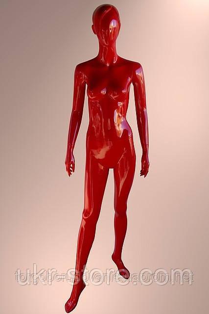 Манекен мужской лакированный красный