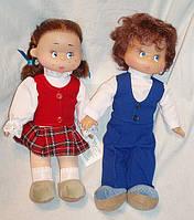 Кукла школьник и школьница. отдельно и в наборе