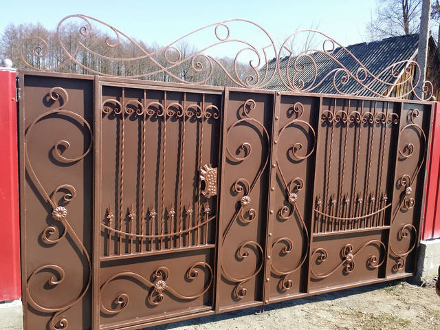 Ворота кованые  4