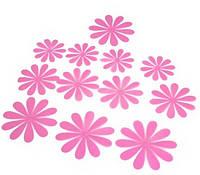 Цветы 3D декор розовые