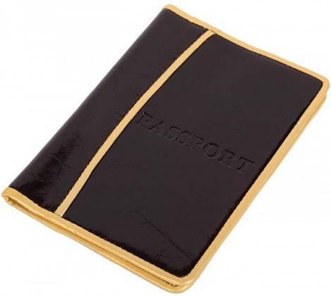 Комфортная кожаная обложка для паспорта Vip Collection 1002B lac коричневый