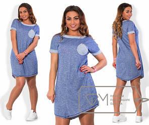 Платье женское повседневное асимметричной длины, фото 2