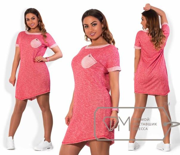 Платье женское повседневное асимметричной длины