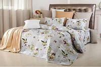 """Набор Часы : летнее одеяло и постельное белье ТМ """"Идея""""  Размер: Евро"""