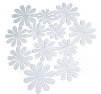 Цветы 3D декор белые